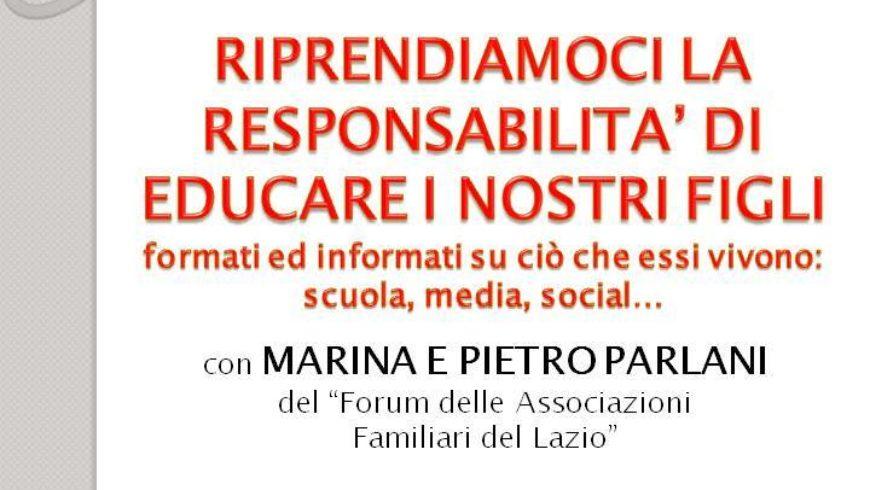 INCONTRO: LA RESPONSABILITA'DI EDUCARE I FIGLI (viterbo)