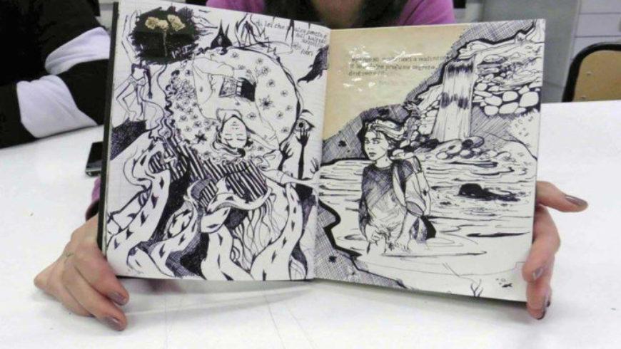Presentazione dei due libri illustrati dagli studenti del Liceo Artistico Orioli (Viterbo)