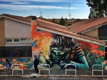 Lella, la poetessa romana morta giovanissima, è diventata un murales sulla scuola dell'infanzia a Casal Bernocchi