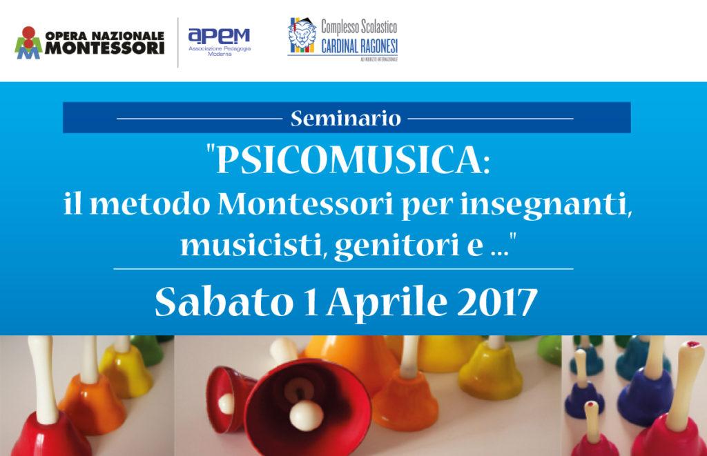 """Seminario """"Psicomusica con il metodo Montessori"""" al Complesso Scolastico Cardinal Ragonesi"""