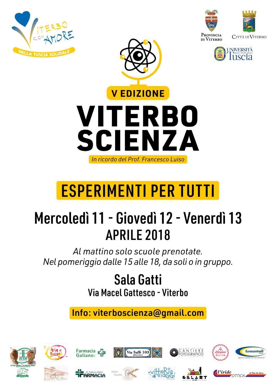 Torna Viterbo Scienza 11-13 aprile 2018