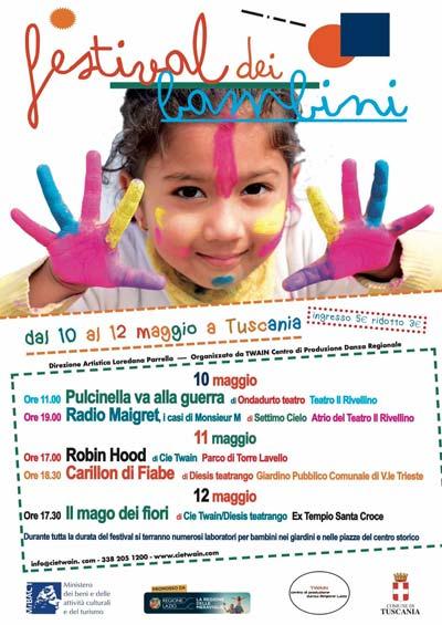 Torna a Tuscania il FESTIVAL DEI BAMBINI dal 10 al 12 maggio